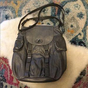 Olivia & Joy Gray grey faux backpack crossbody bag